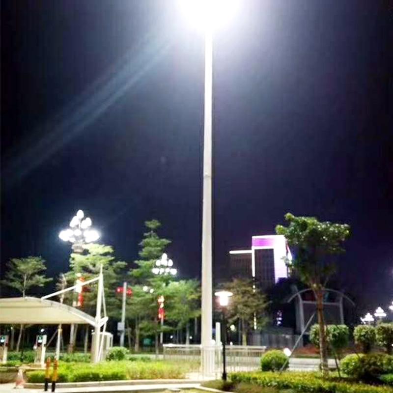 广场25米高杆灯安装